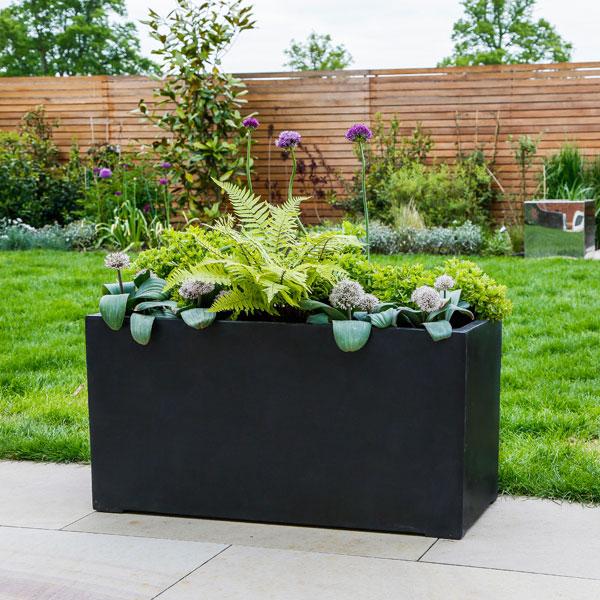 Polystone Jumbo Trough Garden Planter - GreenArt