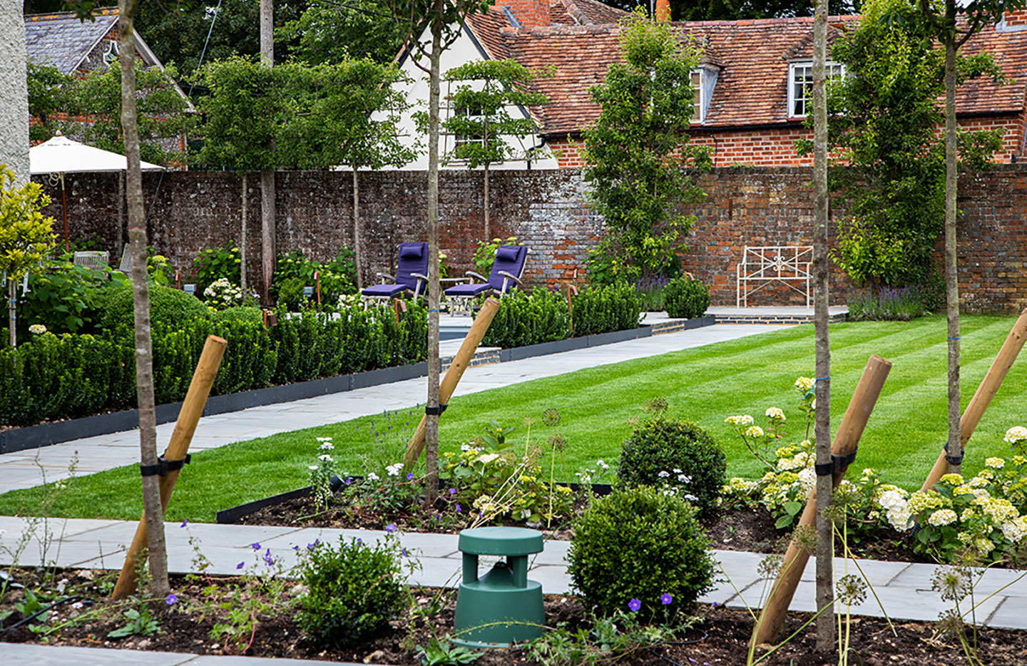 Classic style for a Georgian walled garden