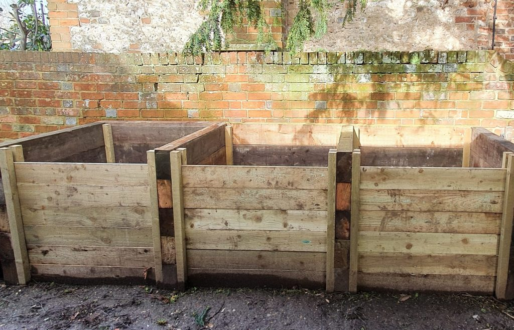 photo of three compost bins GreenArt built